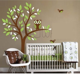 Owl in a Tree Wall Decal-Wall Sticker