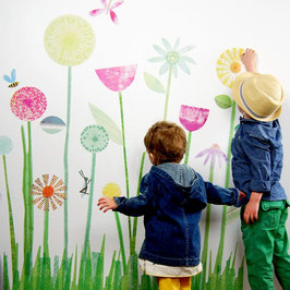 My Garden Flowers Wall Decal-Wall Sticker