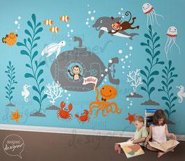 Underwater World  Wall Decal-Wall Sticker