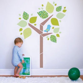 Tree and Birdie Wall Decal-Wall Sticker