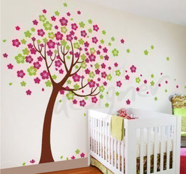 Cherry Blossom Tree Wall Decal-Wall Sticker