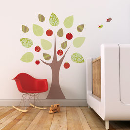 Apple Tree with Birds Wall Decal-Wall Sticker