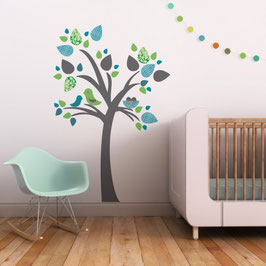 Tree with Birds Nest Wall Decal-Wall Sticker