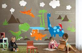 Dinosaur Land Wall Decal-Wall Sticker