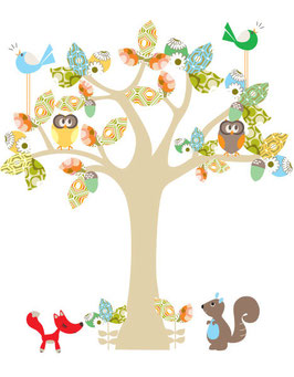 Enchanted Tree (Small) Wall Decal-Wall Sticker by Cocoon Couture