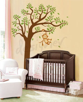 Monkey on Tree Wall Decal-Wall Sticker
