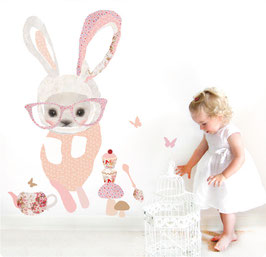 Bunny in Glasses Wall Decal-Wall Sticker