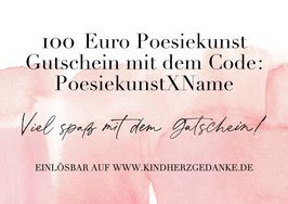 Poesiekunst Gutschein