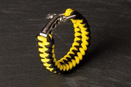 Paracord Armband Black / Yellow
