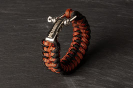 Paracord Armband Black / Red