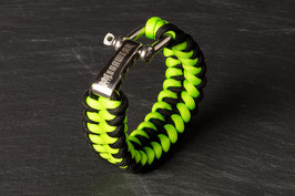 Paracord Armband Black / Green