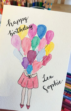 Happy Birthday - Ballons - personalisierbar
