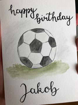 Happy Birthday - Fußball - personalisierbar