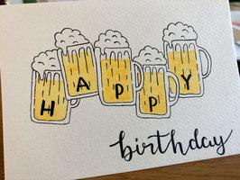 Happy Birthday - Bierkrüge - personalisierbar