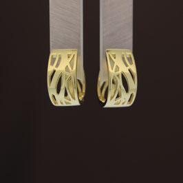 Scharnierkreole aus gelbvergoldetem 925-Sterlingsilber