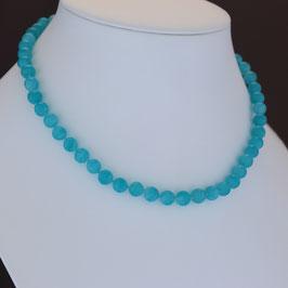 Halskette aus 925-Sterlingsilber und Amazonit