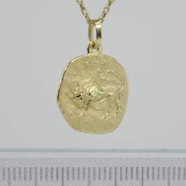 """Anhänger """"Sternzeichen Stier"""" aus 333-Gelbgold"""