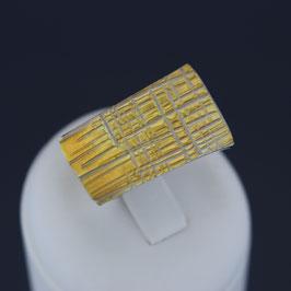 Ring aus teilweise gelbvergoldetem 925-Sterlingsilber