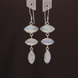 Ohrhänger aus 925-Sterlingsilber und Mondstein