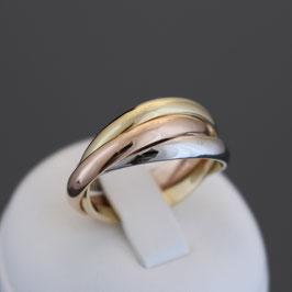 Ring aus 585-Gelb-, Weiß- und -Roségold
