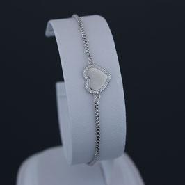 """Armkette """"Herz"""" aus rhodiniertem 925-Sterlingsilber und Zirkonia"""