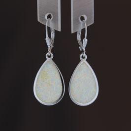 Ohrhänger aus rhodiniertem 925-Sterlingsilber und synthetischem Opal