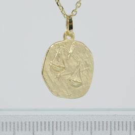 """Anhänger """"Sternzeichen Waage"""" aus 333-Gelbgold"""