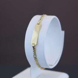 Armkette mit Gravurplatte aus 333-Gelbgold