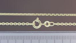 Halskette (Anker, diamantiert) aus 333-Gelbgold