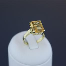 Ring aus 585-Gelbgold und Citrin