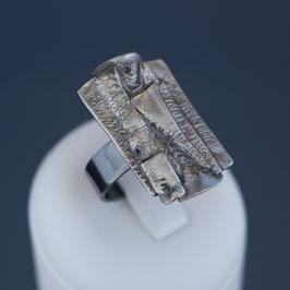 Offener Ring aus geschwärztem 925-Sterlingsilber