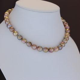 Halskette aus gelbvergoldetem 925-Sterlingsilber und Süßwasserzuchtperle