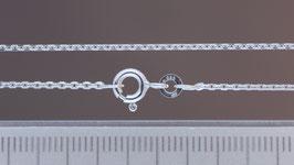 Halskette (Anker, diamantiert) aus 333-Weißgold