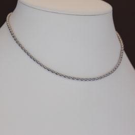Collier aus rhodiniertem 925-Sterlingsilber und Zirkonia