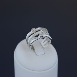 Ring aus 925-Sterlingsilber und Zirkonia