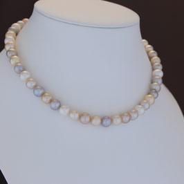 Halskette aus 925-Sterlingsilber und Süßwasserzuchtperle auf Edelstahldraht