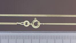 Halskette (Panzer, flach) aus 333-Gelbgold
