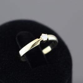 Ring aus 585-Gelbgold und Diamant (0,1 ct.)