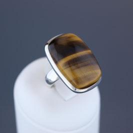 Ring aus 925-Sterlingsilber und Tigerauge