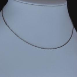 Halskette aus 585-Weißgold