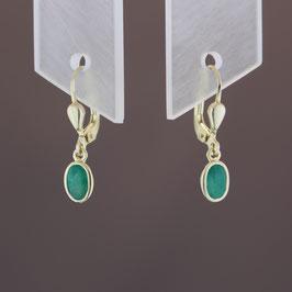 Ohrhänger aus 333-Gelbgold und Smaragd