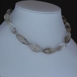 Halskette aus 925-Sterlingsilber und Bergkristall