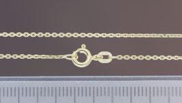 Halskette (Anker, diamantiert) aus 585-Gelbgold