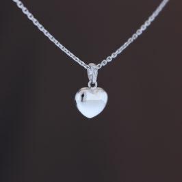 """Anhänger """"Herz"""" aus 375-Weißgold und Diamant"""