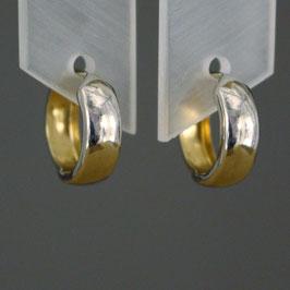 Scharnierkreole aus 333-Gelbgold und 333-Weißgold