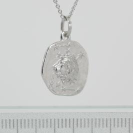 """Anhänger """"Sternzeichen Löwe"""" aus rhodiniertem 925-Sterlingsilber"""