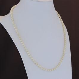 Halskette aus 925-Sterlingsilber, Süßwasserzuchtperle und Zirkonia