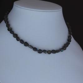Halskette aus 925-Sterlingsilber und Labradorit