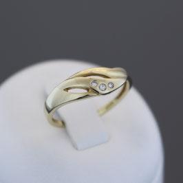 Ring aus 585-Gelbgold und Diamant (0,03 ct.)