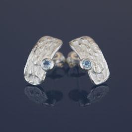 Ohrstecker aus 925-Sterlingsilber und Blautopas
